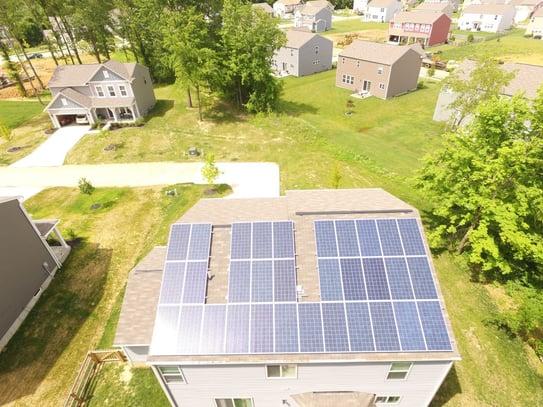 Home solar panel installation in Cincinnati, Ohio