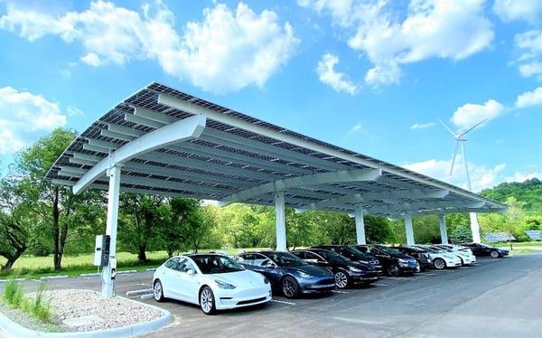 Melink Corporation's Solar Canopy Over Parking Lot