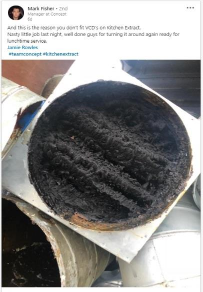 Blocked Grease Duct